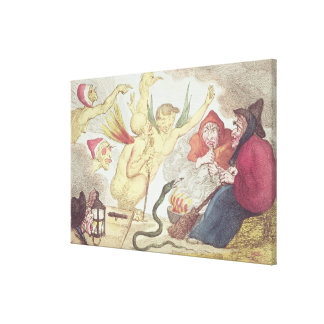 Witches in a Hayloft Canvas Print