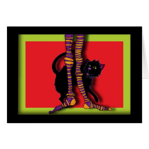 witches-legs greeting card