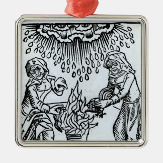 Witches Making a Spell, 1489 Metal Ornament