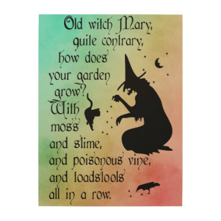 Witches Mary Wood Print