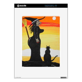 Witches New Broom Holder iPad Skins
