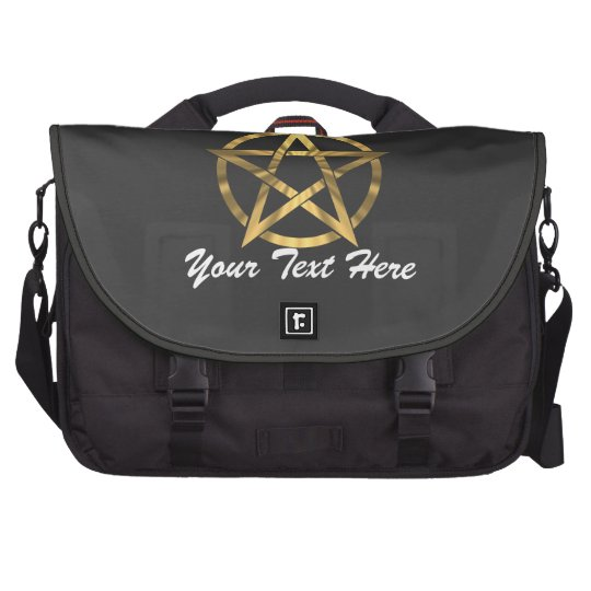 Witches occult Pentagram Laptop Bags