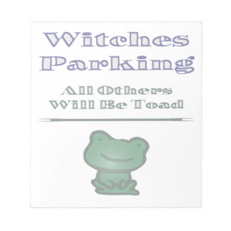 Witches Parking Note Pad