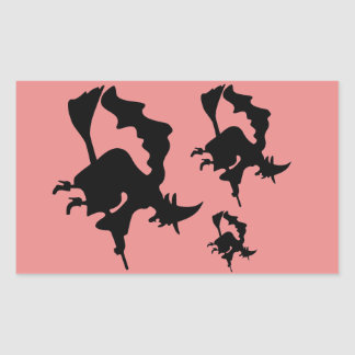 Witches' Party Ghouls Night Out Rectangular Sticker