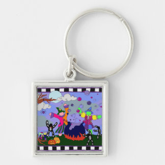 Witches Party Square Keychain