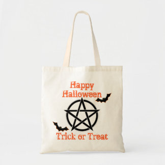 witches pentagram  trick or treat halloween tote bag