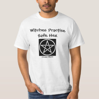 Witches Practise Safe Hex - Cheeky Witch T Shirt