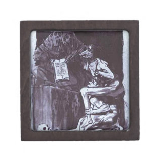 Witches Ready to Fly by Francisco Goya Premium Keepsake Box