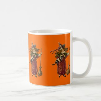 Witches Row Vintage Halloween Mug