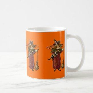 Witches Row Vintage Halloween Mug