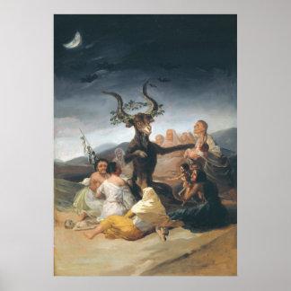 Witches Sabbath - Francisco de Goya (1797-1798) Poster