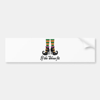 witches shoes bumper sticker