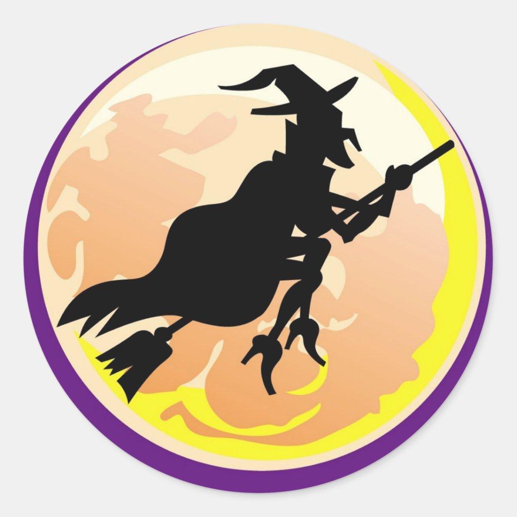 Witches Silhouette - Halloween Sticker
