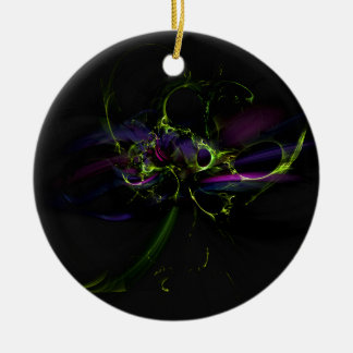 witches spells fractals halloween ceramic ornament