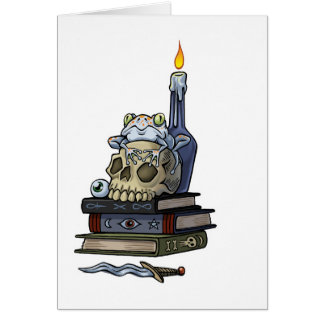 witches spells greeting card