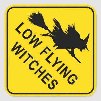 Witches Square Stickers