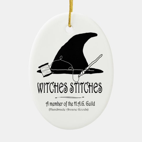Witches Stitches H.A.G. Ornament