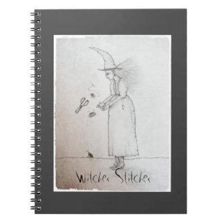 """""""Witches Stitches"""" Notebook - Notforgotten Farm™"""