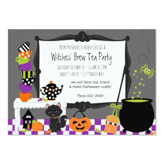 Witches Tea Party Invitation