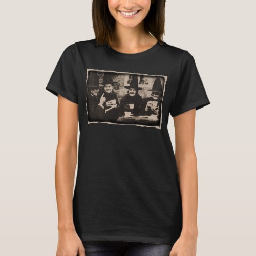 Witches Tea party _ old blackwhite T_Shirt