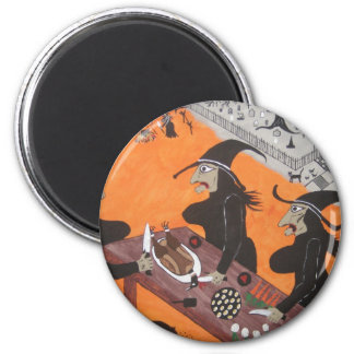 Witches Thanksgiving Dinner Magnet