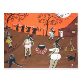 Witches Wash Day Postcard