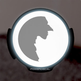 Witches Yin Yang LED Window Decal