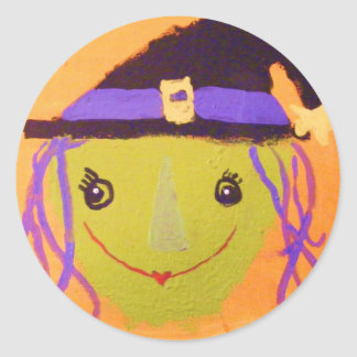 Witchey Jane Round Sticker