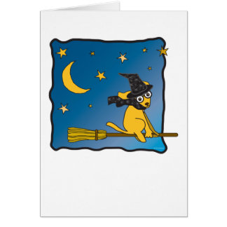 Witchie Golden Retriever Greeting Card