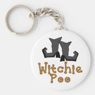 Witchie Poo Basic Round Button Keychain