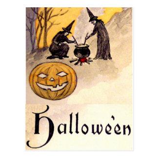 Witching de medianoche (tarjeta de Halloween del Postal