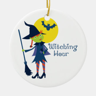 Witching Hour Ceramic Ornament