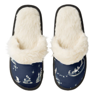Witching Hour Pair Of Fuzzy Slippers