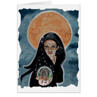 Witching Hour - Magical Witch Art Card