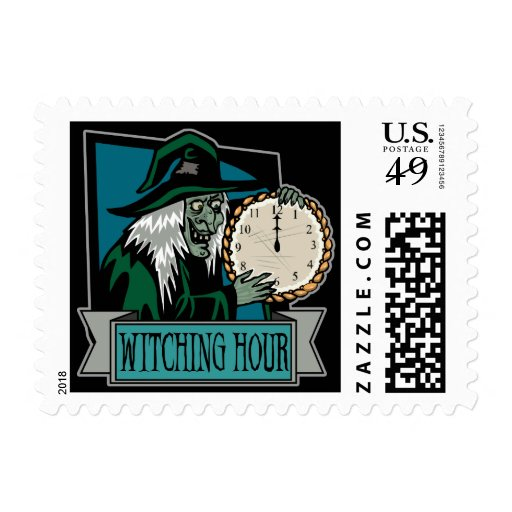 Witching Hour Postage Stamp Stamps