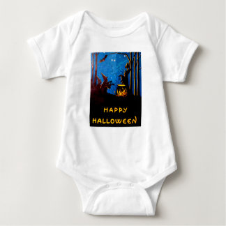 Witching Hour (Vintage Halloween Card) Baby Bodysuit