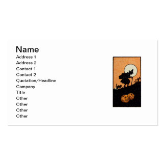 Witching Hour (Vintage Halloween Card) Business Card