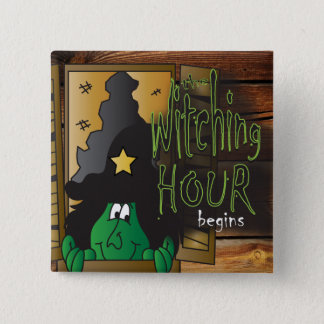 Witching you a Happy Halloween Button
