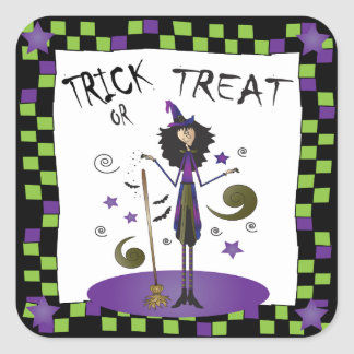 Witching you a Happy Halloween Square Sticker