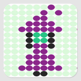 Witchipoo Beaded Pattern Motif Square Sticker
