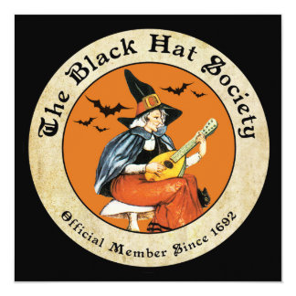 Witch's Black Hat Society Card