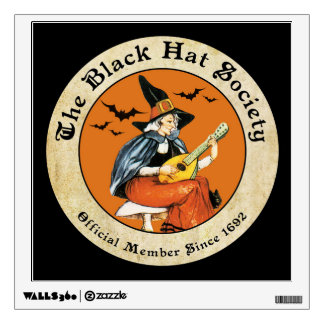 Witch's Black Hat Society Wall Sticker