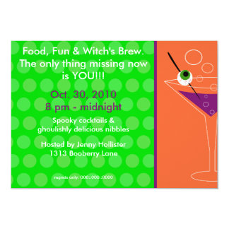 "Witch's Brew Cocktail Party Invitation 5"" X 7"" Invitation Card"