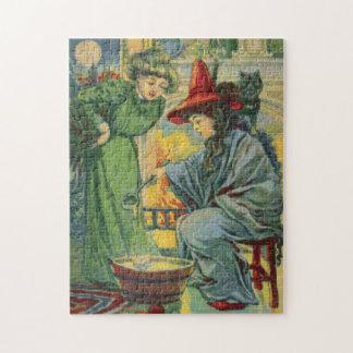 Witch's Brew Cross Stitch Jigsaw Puzzle