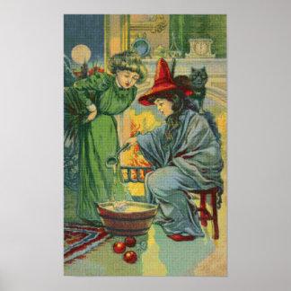 Witch's Brew Cross Stitch Poster