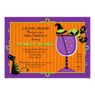 Witch's Brew Halloween Bridal Shower Invitation