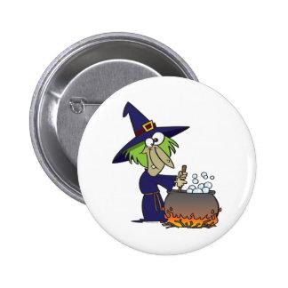 witchs brew halloween cartoon button