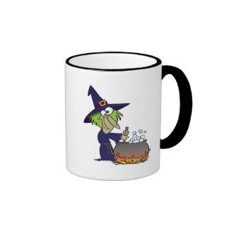 witchs brew halloween cartoon mug