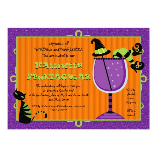 Witch's Brew Halloween Party Invitation