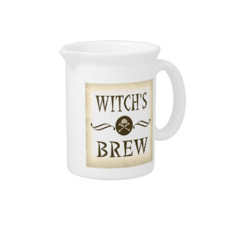 Witch's Brew Halloween Props Haunted House Drink Pitcher at Zazzle